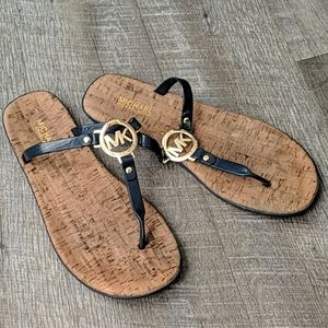 Women's navy blue Michael kors cork sandals